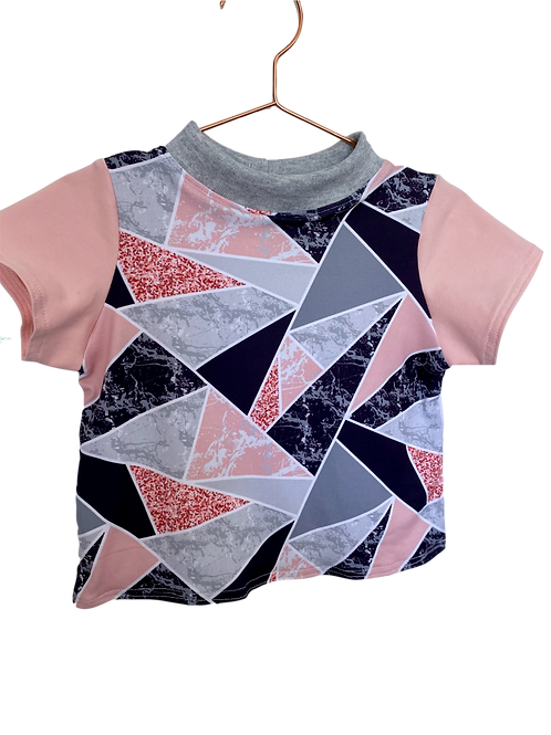 Soft Pink and Marble Soft Pink Sleeves Kids T-Shirt