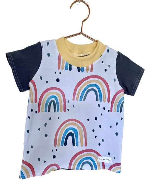 Rainbow Dark Grey Cotton T-shirt