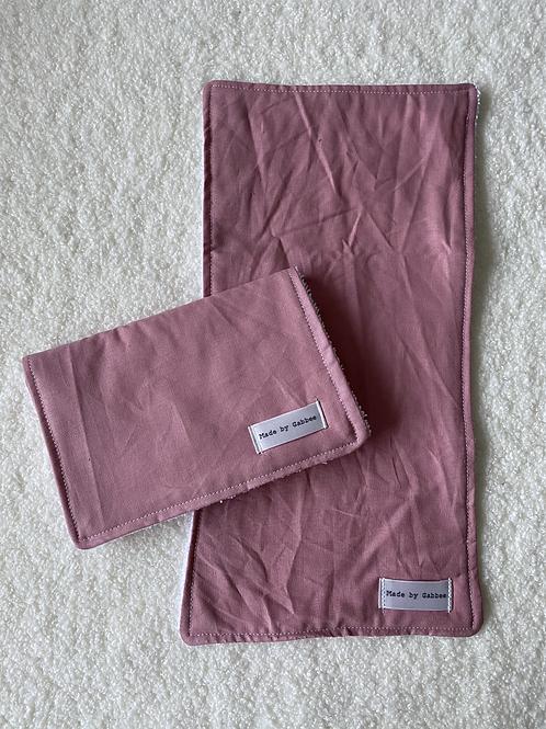 Soft Rose Burp Cloth