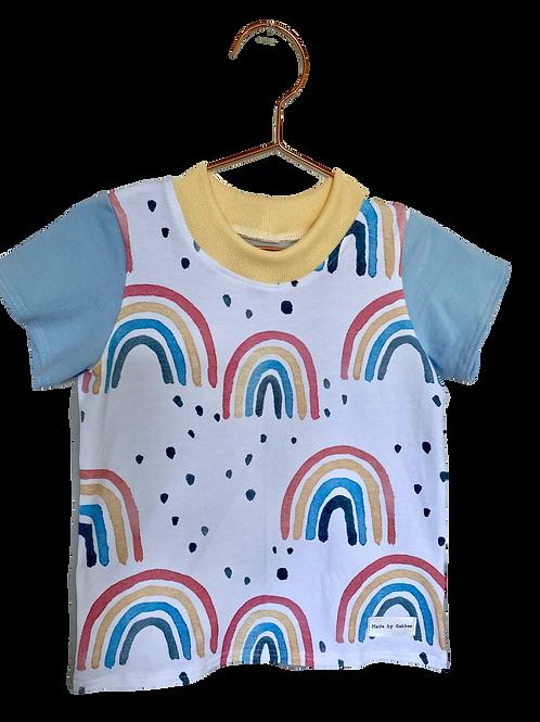 Rainbow Blue Cotton T-shirt