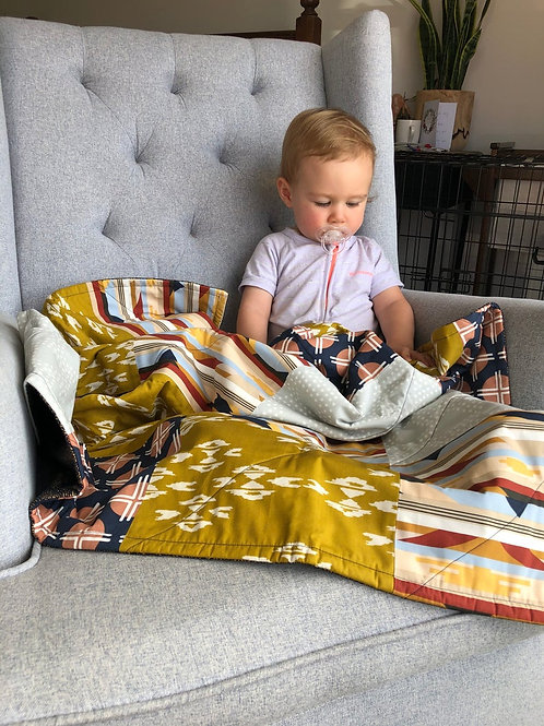 Art Gallery Fabric Bold Cotton Bamboo Baby Quilt