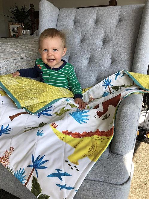 Bold Bright Dinosaur Handmade Quilt