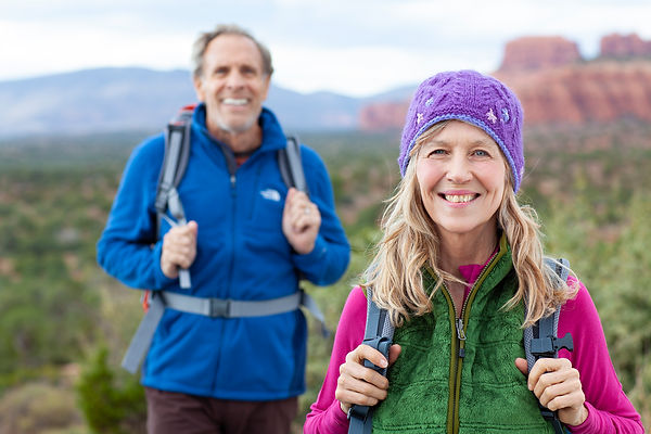 Senior citizens Hiking n Sedona Arizona