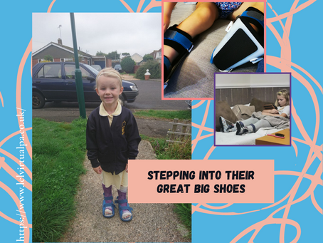Stepping into their GREAT, BIG Shoes