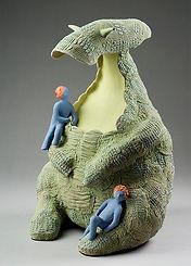 Confidence, sculpture d'arrt en céramique de France Fauteux