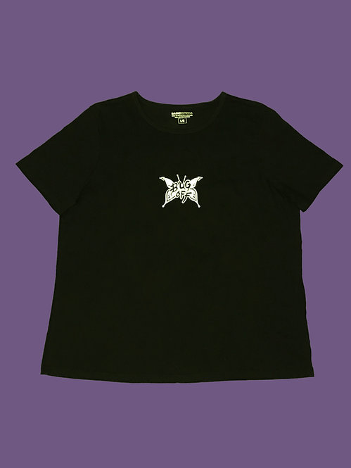 L BLACK BUG OFF BUTTERFLY TEE