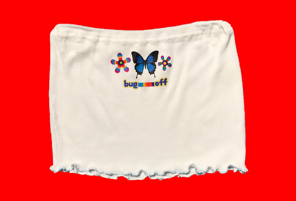 BUTTERFLY KISSES TUBE TOP
