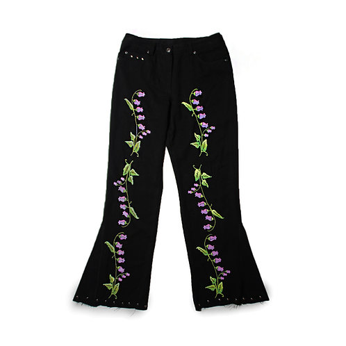 SOMEWHERE PAINTED BELLFLOWER PANTS