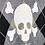 Thumbnail: BASIC SKULL ARGYLE GRAY