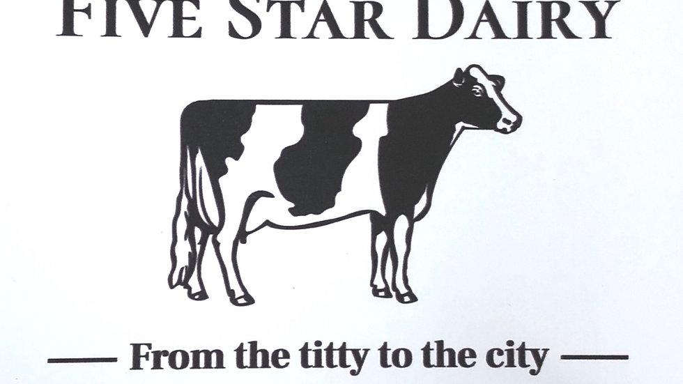 Five Star Dairy Sticker