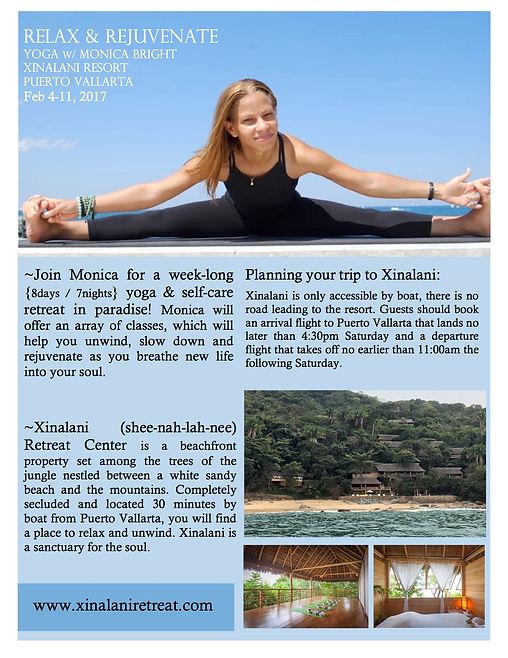 Xinalani Mexico yoga retreat february 2017