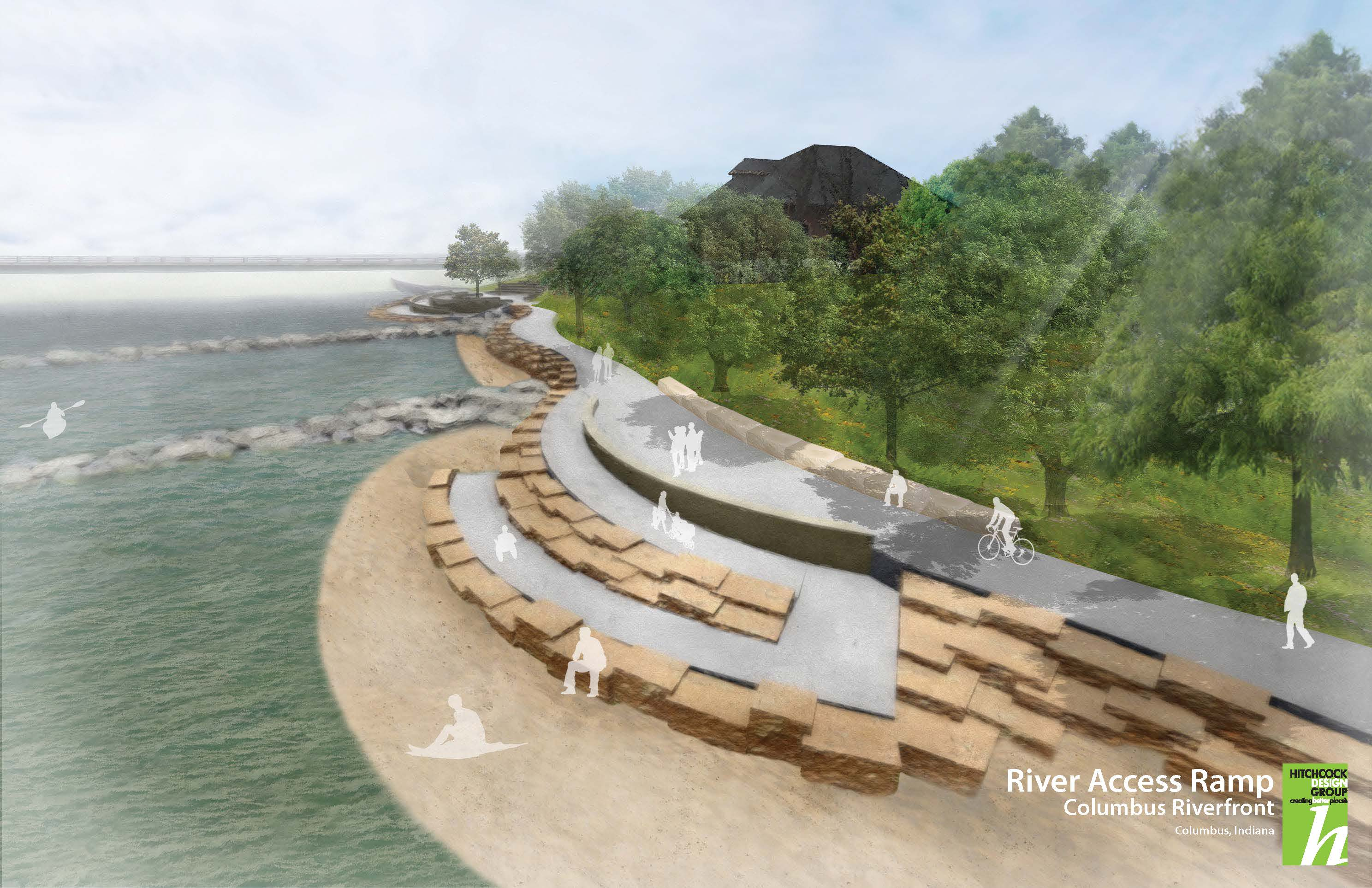 River Access Ramp Perspective
