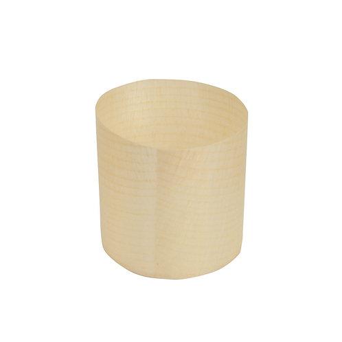 Monoporzione cilindrico in legno di pinoØ 6 cm, h 6 cm
