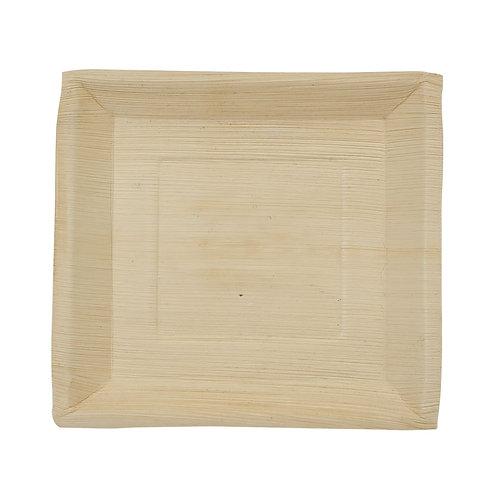 25 Piatti quadrati in foglia di palmaL 23 cm, h 2 cm