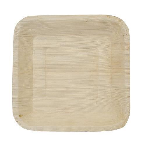 25 Piatti quadrati in foglia di palmaL 16 cm