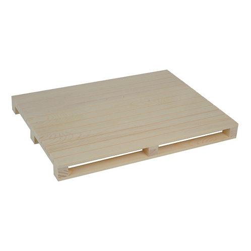 1 Mini pallet in legno 40x30x3.5 cm