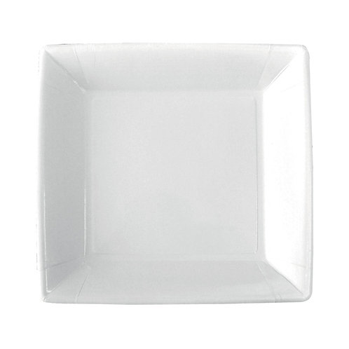 50 Piatti quadrati in cartoncino non laminato 23x23 cm