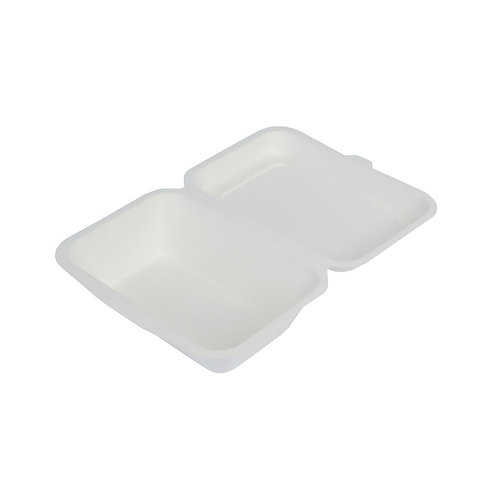 50 Contenitori con coperchio incernierato in polpa di cellulosa 800 ml