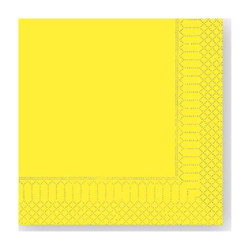 Tovagliolo Giallo Limone 25X25 - 2 Veli