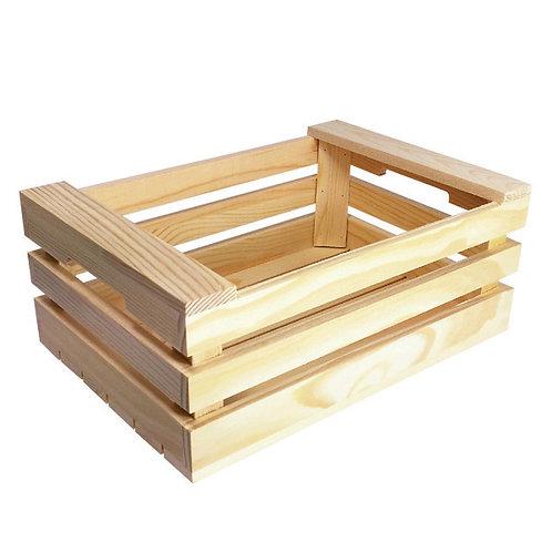 1Minicassette in legno a 3 stecche25x17x10 cm