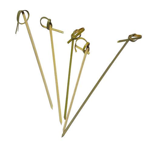 100Spiedini in bamboo con ricciolo180 mm