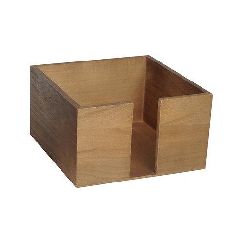 1Porta tovaglioli in legno13,5x13,5x10 cm