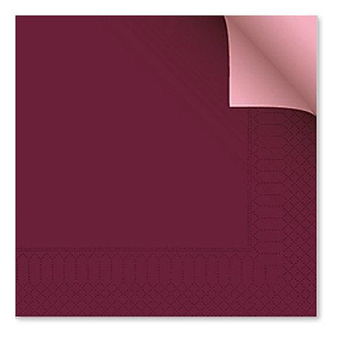Tovagliolo bicolor bordeaux/rosa40X40 cm