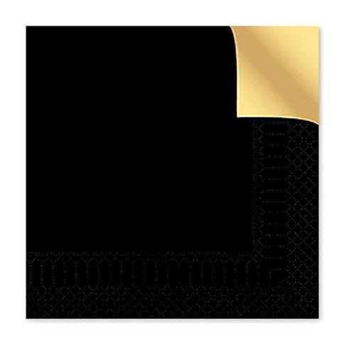 Tovagliolo bicolor nero/champagne40X40 cm