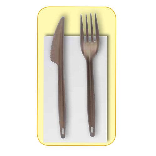 100 Bis forchetta+coltello in PLA + tovagliolo