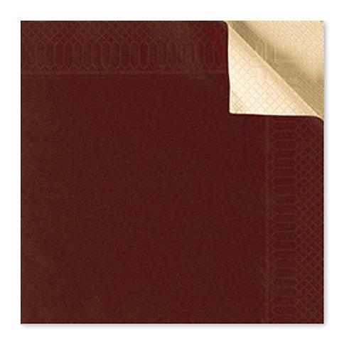 Tovagliolo bicolor cioccolato/champagne40X40 cm