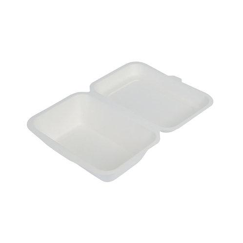 50 Contenitori con coperchio incernierato in polpa di cellulosa 450ml