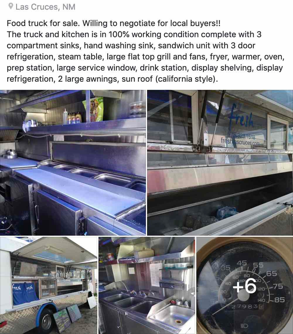 Food truck for sale in Las Cruces, NM