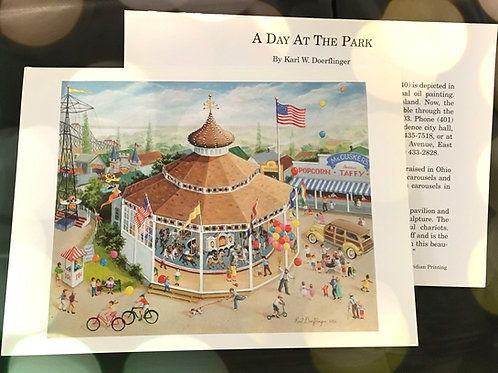 """Day at the Park"" Landscape Note Card"