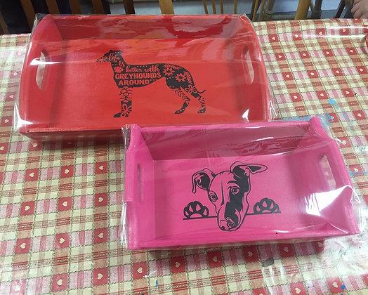Greyhound Trays sold in support of Hall Green Greyhound Trust