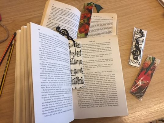 wooden book marks