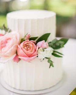 Vertical Striped Wedding Cake