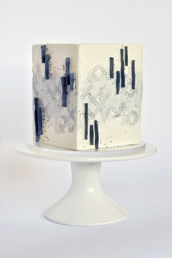 Abstract Square Cake