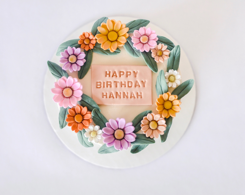 Fondant Flower Crown Cake