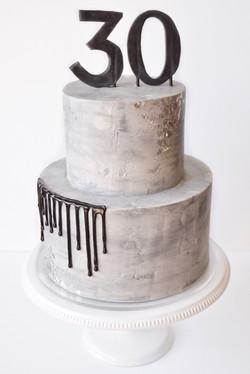 Modern Concrete Cake