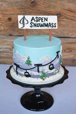 Mountain & Ski Lift Cake