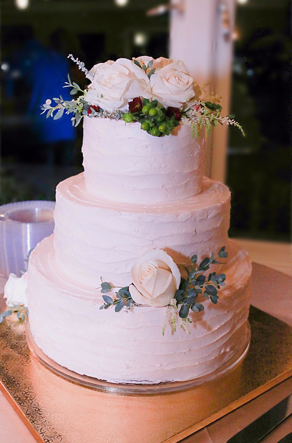 Blush Buttercream Wedding Cake