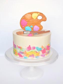 Paint Palette Cake