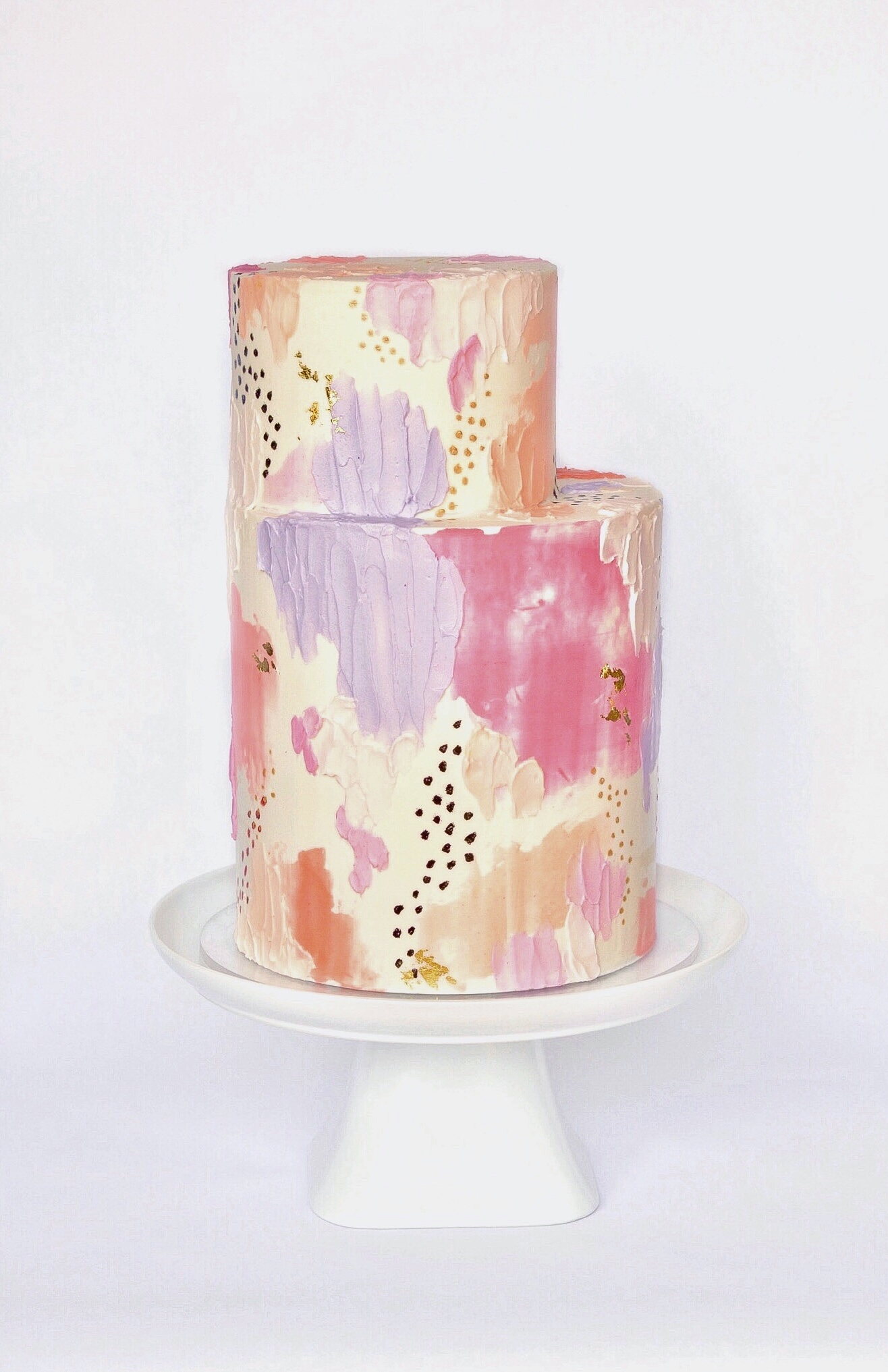 Abstract Wedding Cake