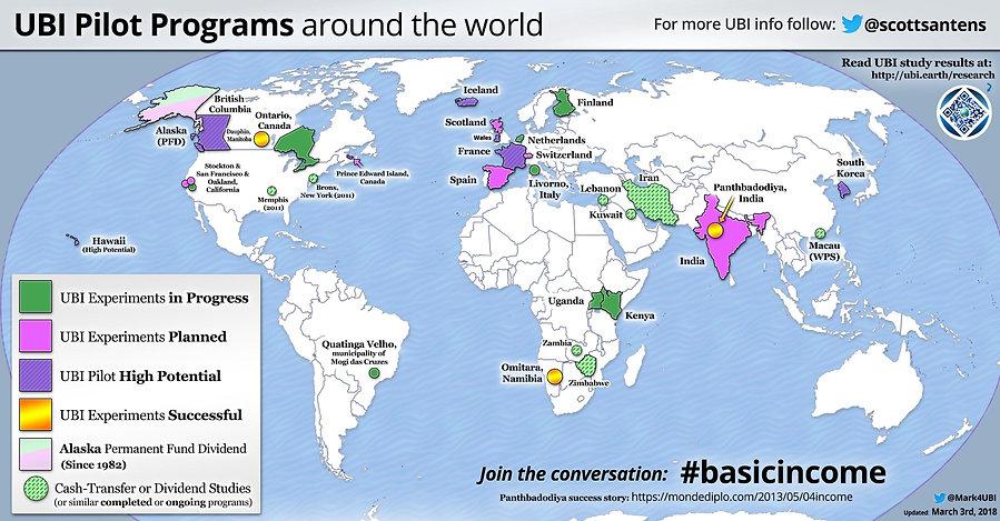 Le RBI à travers le monde