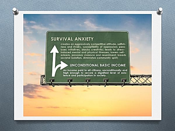 Anxiété de survie tout droit ou virage du Revenu de Base Inconditionnel
