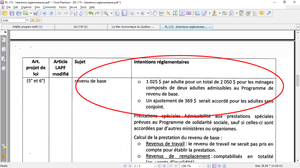 PL173 Intentions réglementaires
