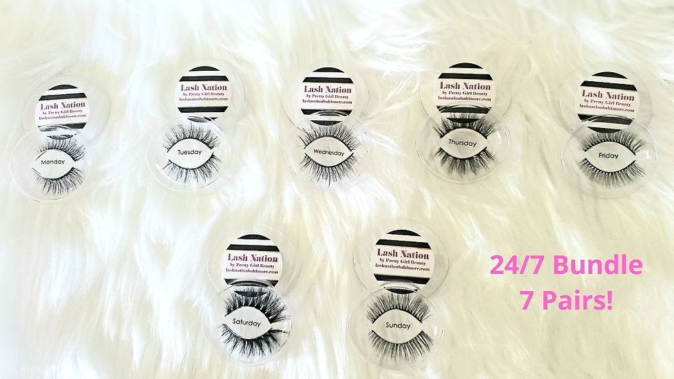 24/7 Bundle Deal! A Pair of Strip Eyelashes for Everyday of the Week!