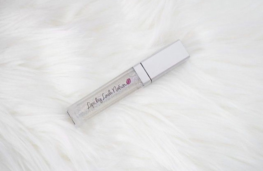 Lips by Lash Nation Clear Gloss with Silver Glitter