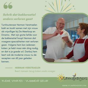 Herman geeft liefde voor bakkersstiel door.