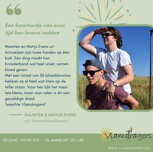 Maarten en Matijs zijn bloeddonors.
